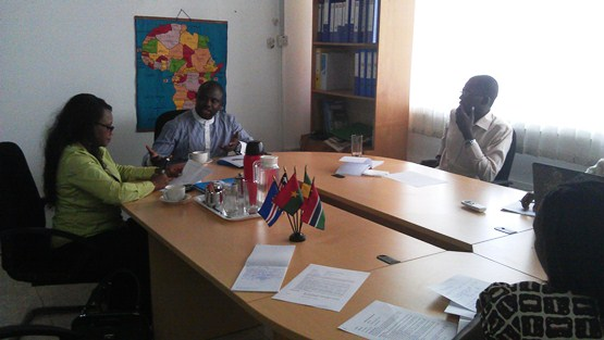 The Visit of the Acting Director of ECOWAS Early Warning Directorate to WANEP's PMC